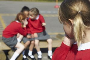 Primary-girl-left-out-in-playground